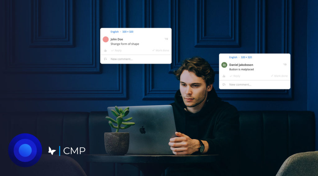 CMPs make workflows more collaborative business person working on desktop