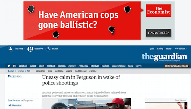A great example of programmatic campaigns from The Economist