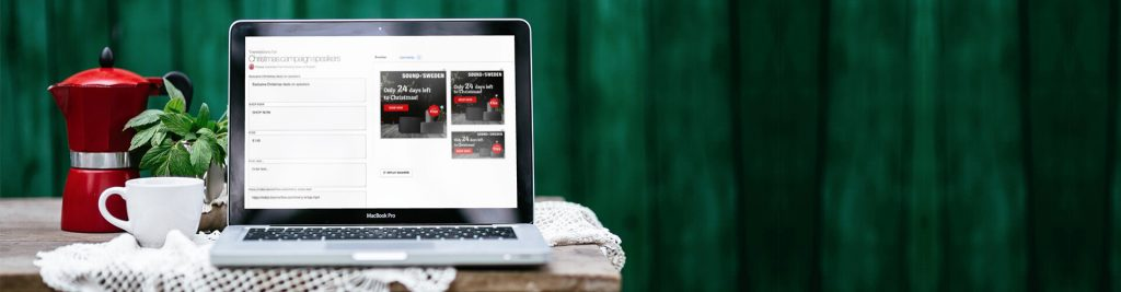 Christmas banner ads in Banneflow