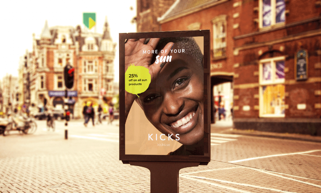 dooh campaign that shows offer for summer products