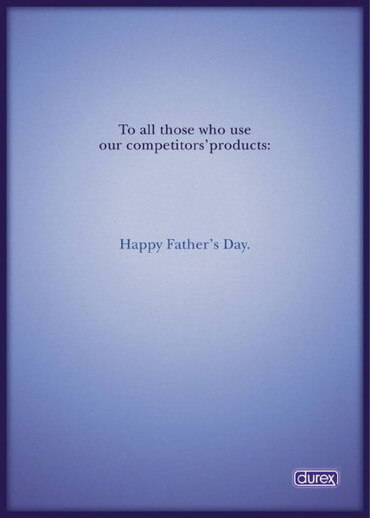 A classic example of a Durex Father's Day ads