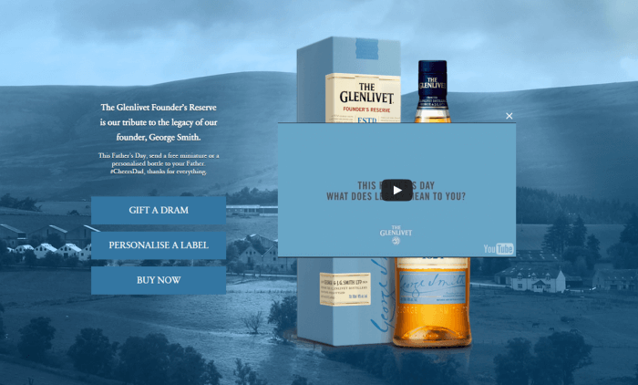 Father's Day ad for whisky