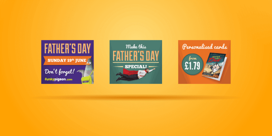 Funky Pigeon Father's Day ads