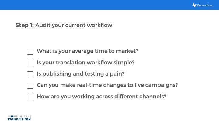 Audit your current workflow