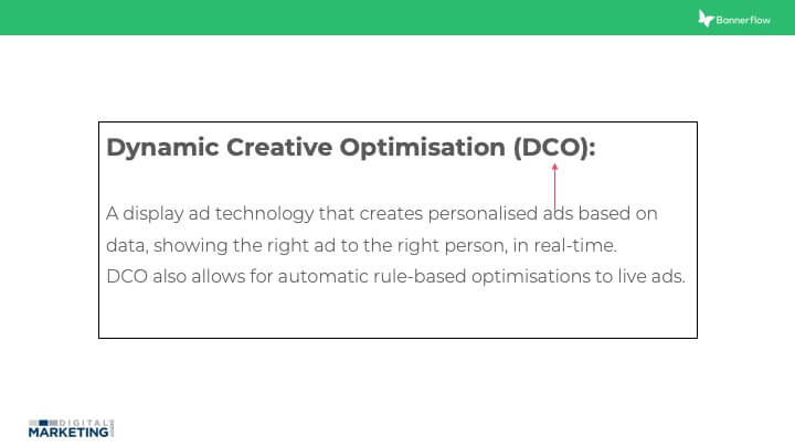 Dynamic creative opitmisation (DCO)