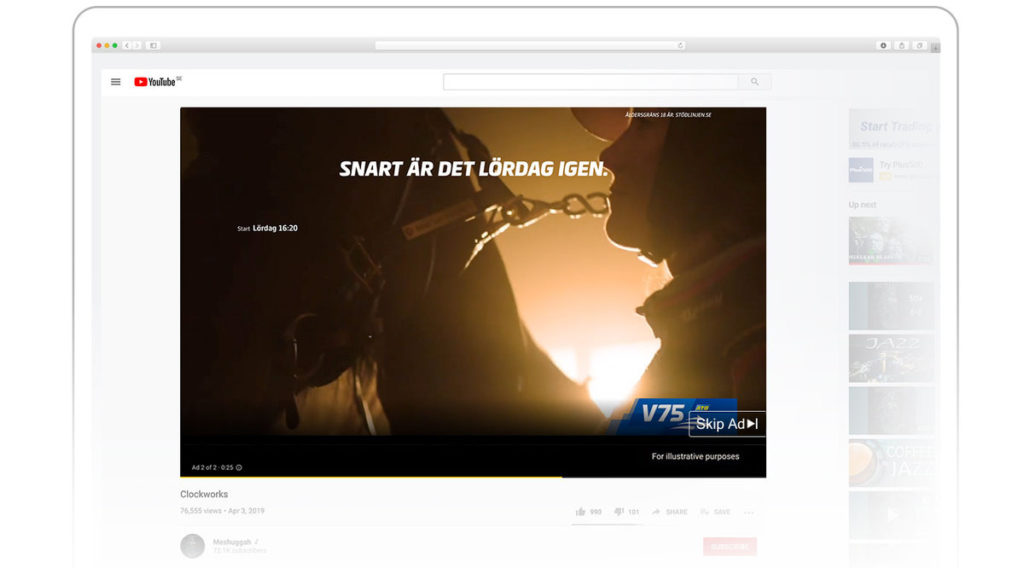 display advertising and video example
