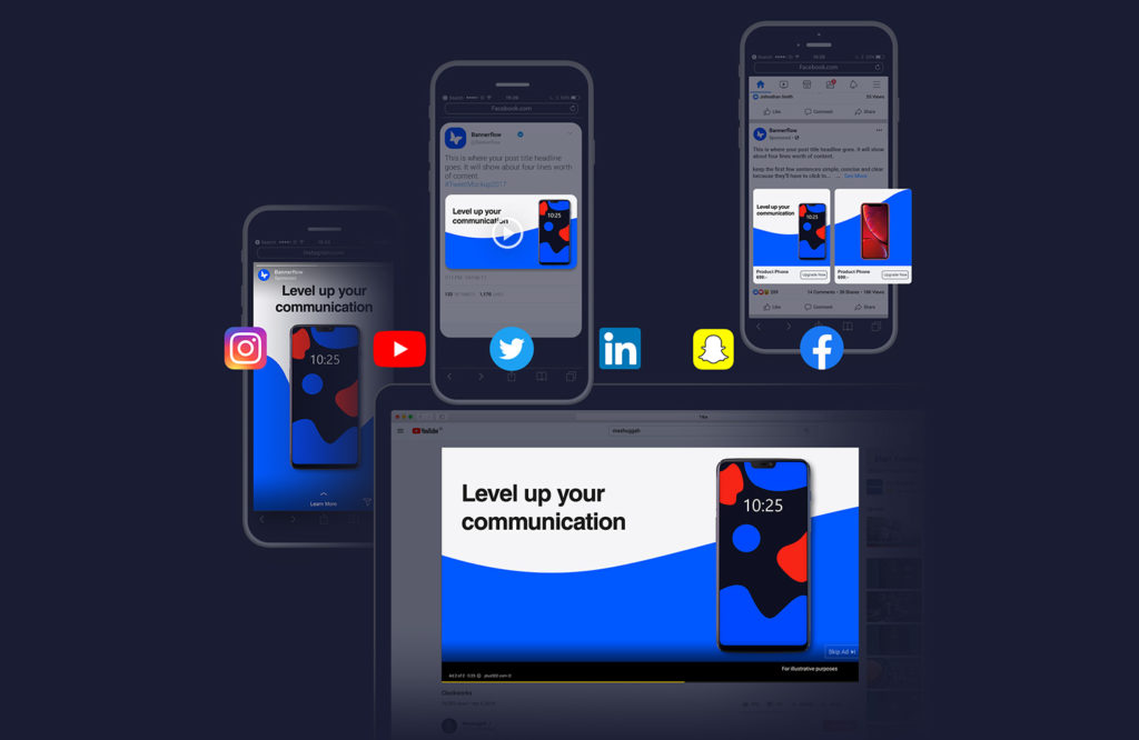 Social media supported by Bannerflow CMP