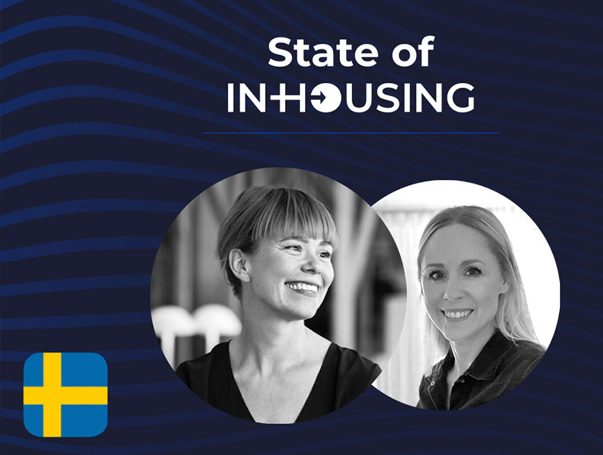 State of in housing Swedish flag